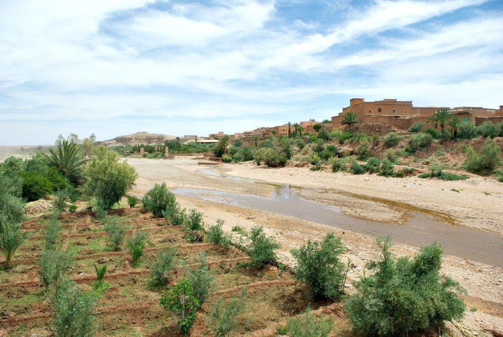Ait Ben Haddou - View back to modern town.