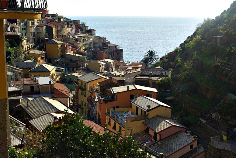 Leaving Manarola after scoffing the most delicious gelato on earth.