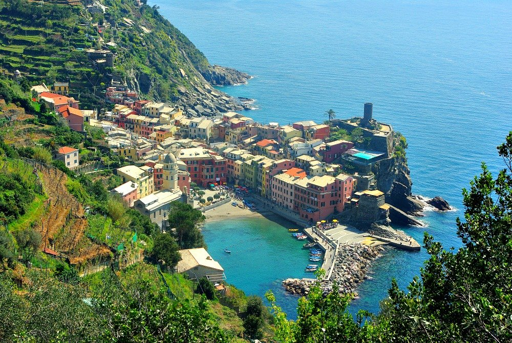Looking down on to my favourite Cinque Terre Town of Vernazza.  I think this is the most romantic of the five towns.