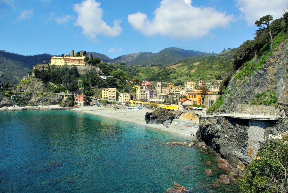 Excitement filled the air at Monterosso al Mare the first of the five romantic villages we visited on the Cinque Terre