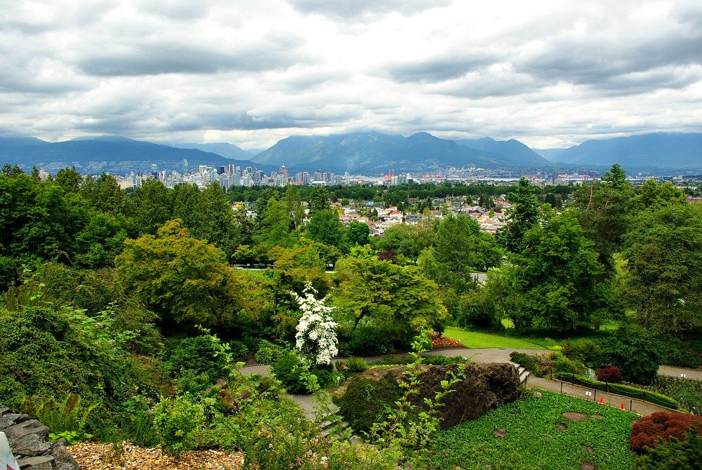 View of City from Garden