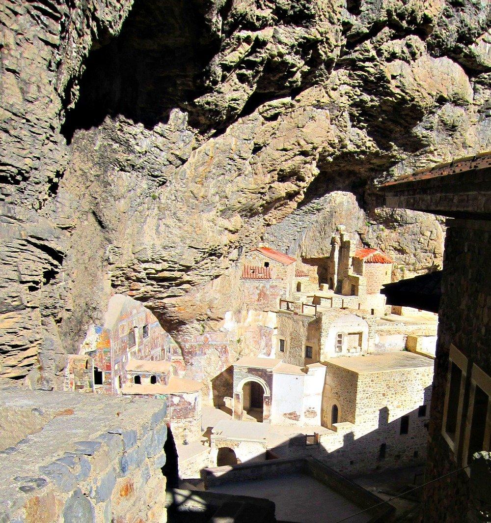 Buildings behind Monastery Facade