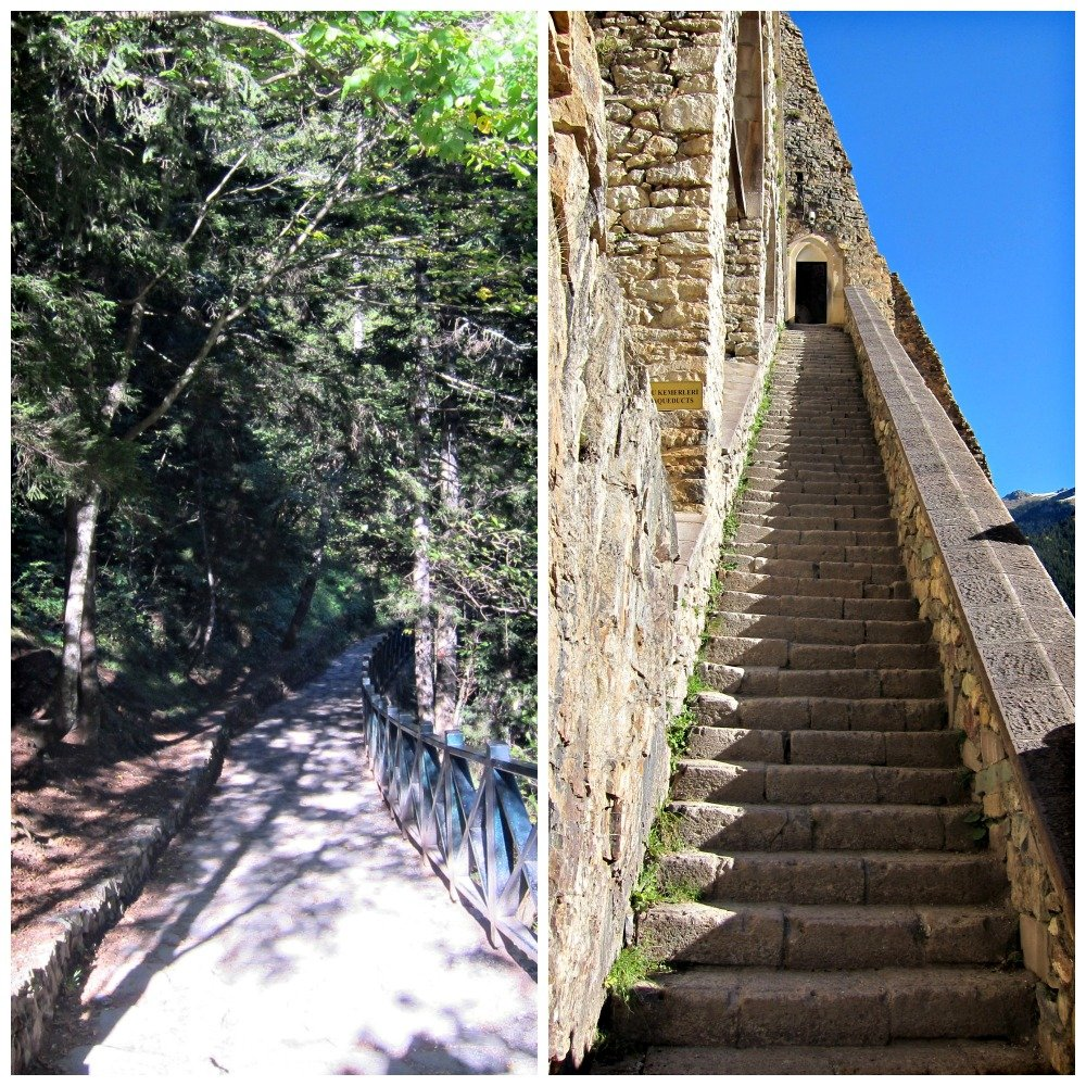 Sumela path and steps