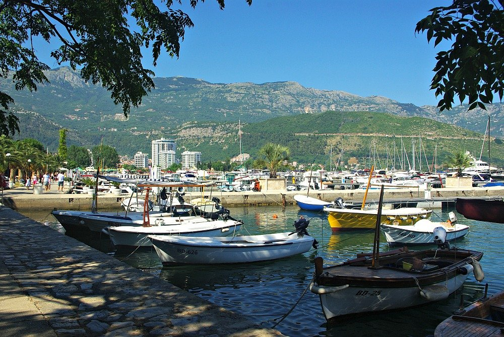 Budva Marina and Town