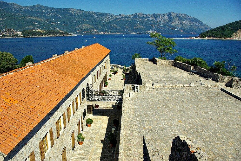 Budva the walls and Adriatic