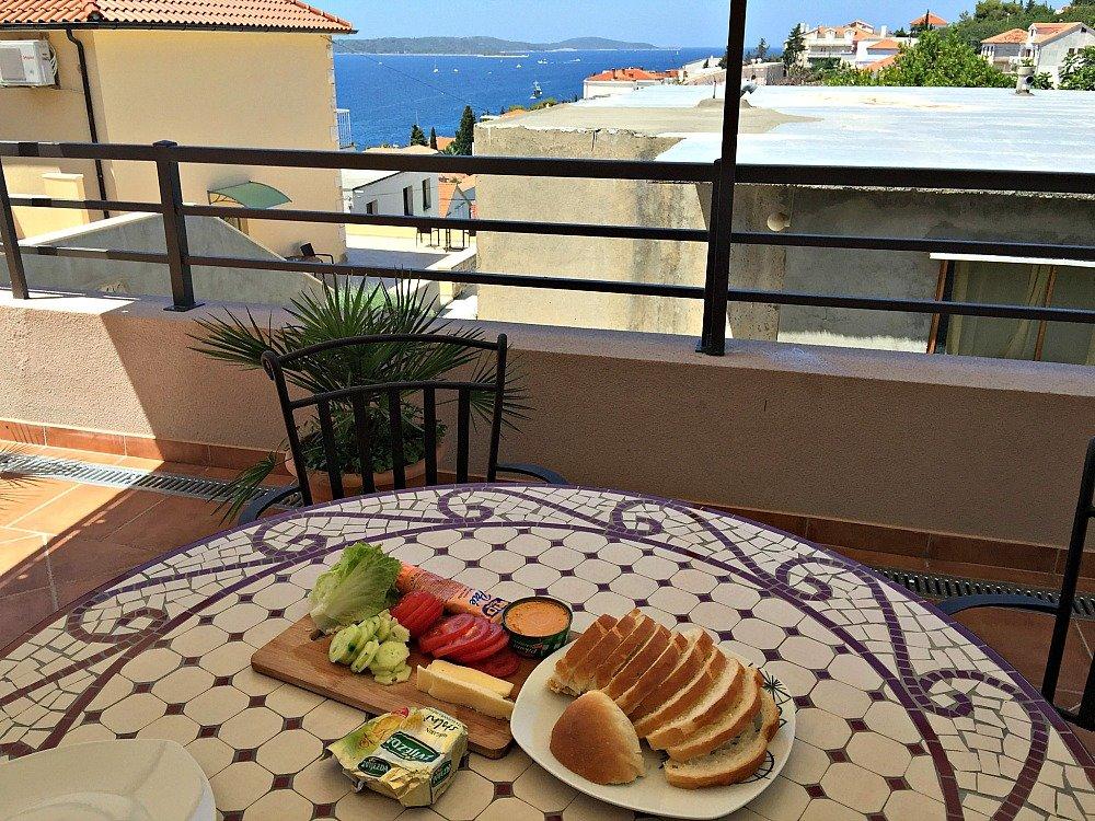 Hvar Town Croatia Airbnb Lunch