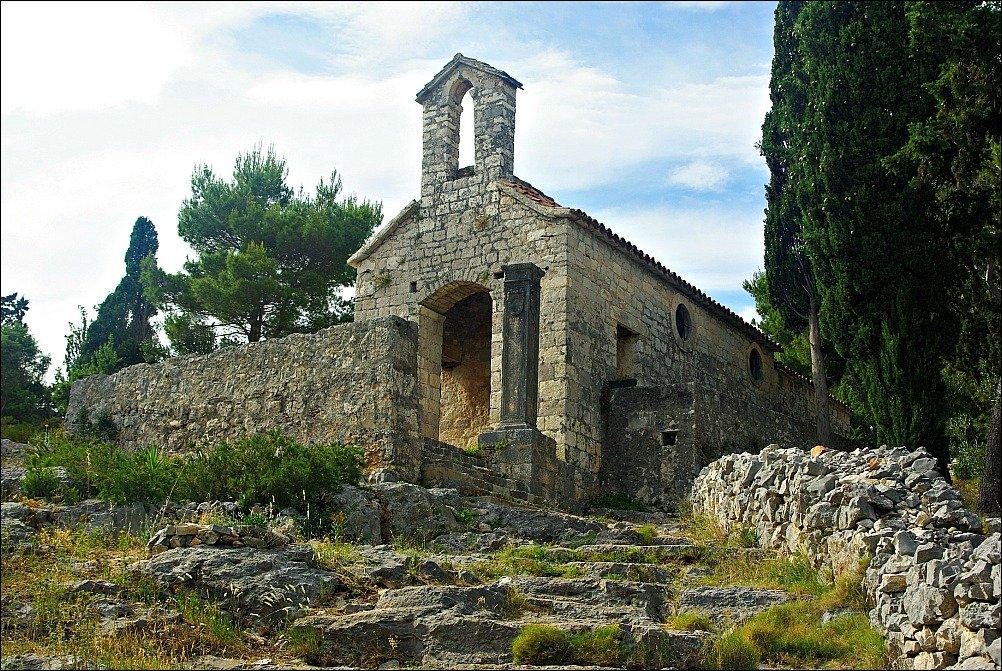 Hvar Church near Fortress
