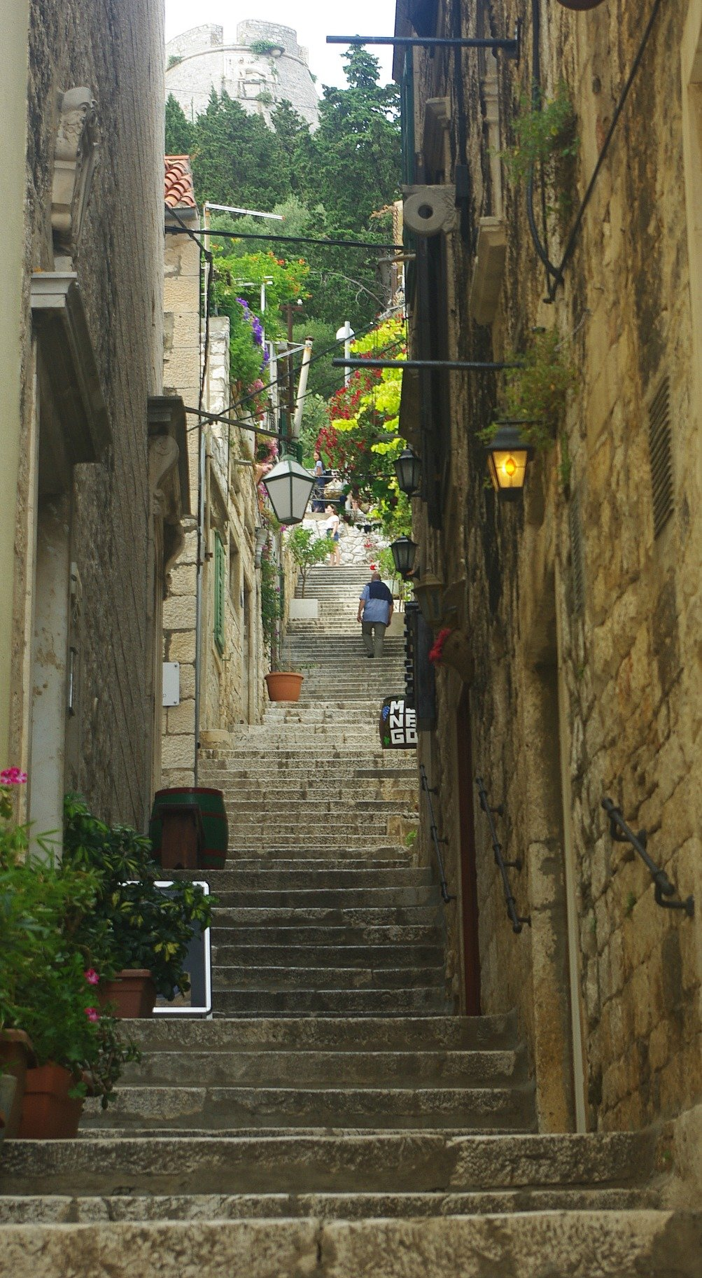 Hvar Stairs to Fortress