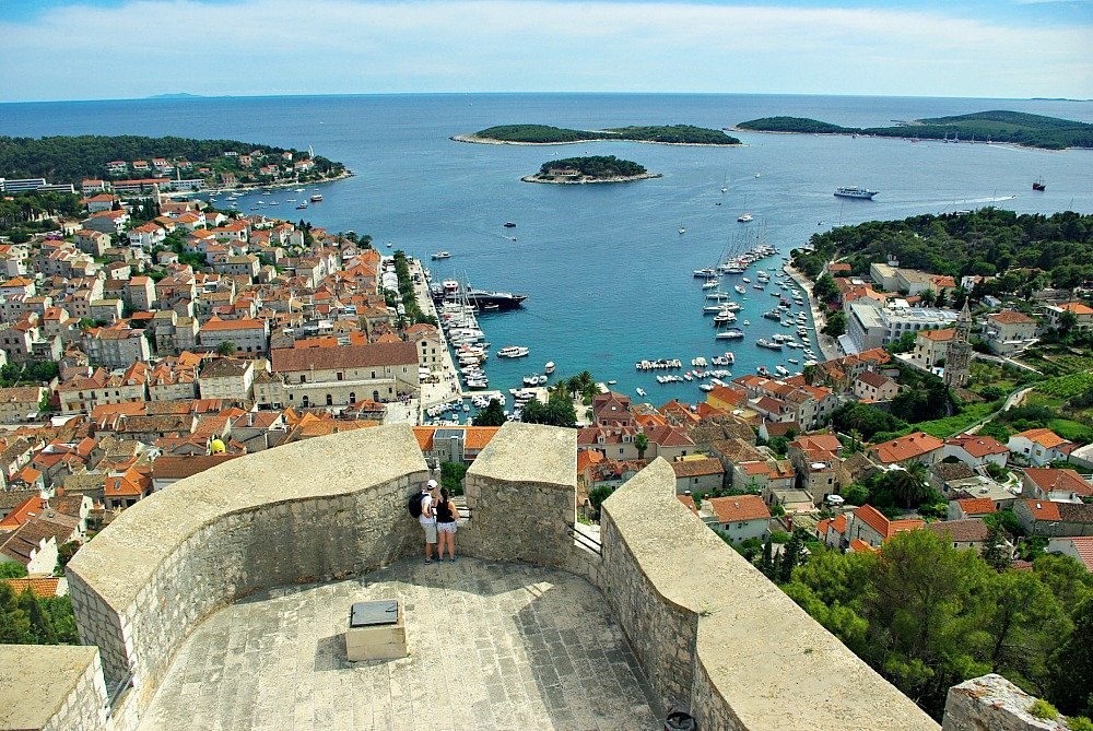 Hvar Town Croatia from the Fortress