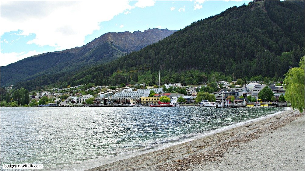 Queenstown New Zealand on the banks of Lake Wakatipu