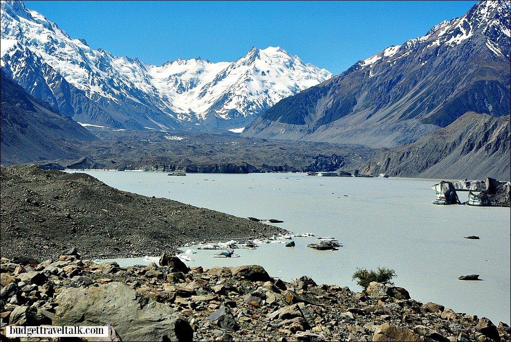 Hooker Glacier Lake New Zealand
