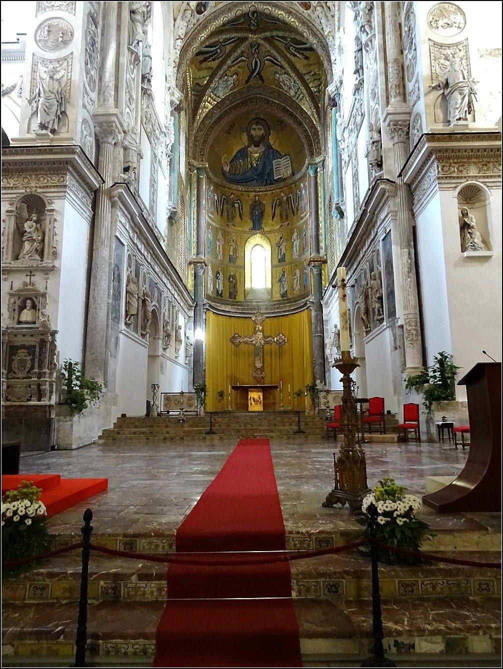 Cefalu Duomo Mosaics, Sicily