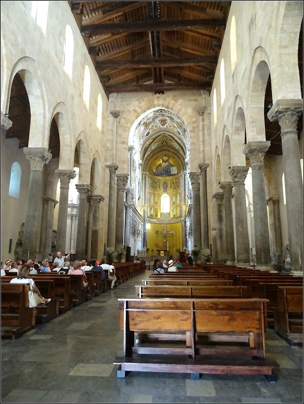 Cefalu Duomo Simplicity and Mosaics