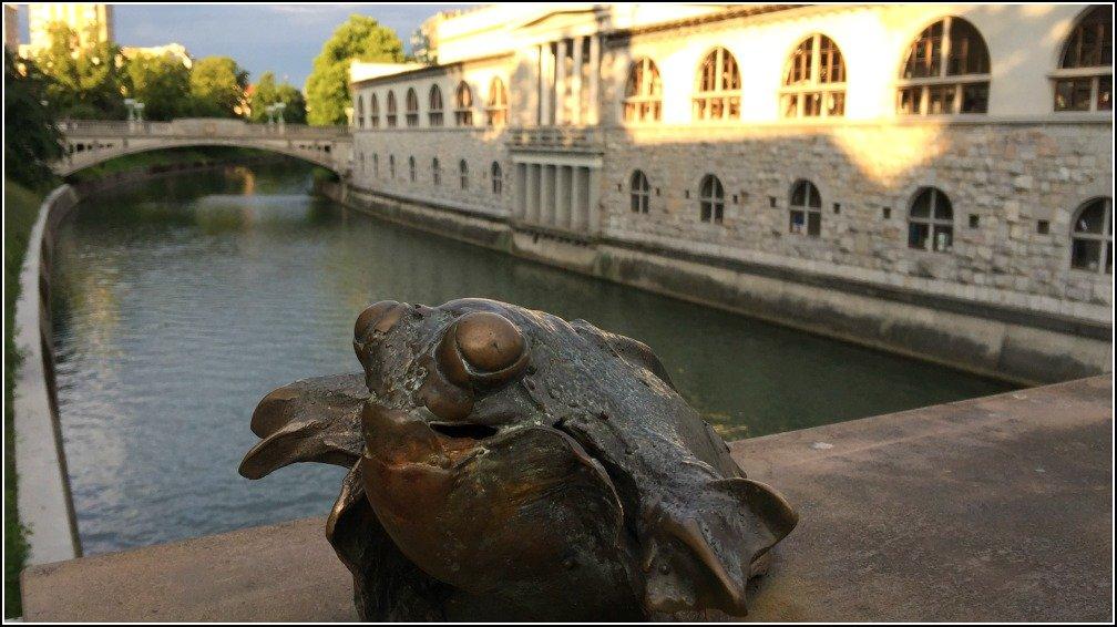 Ljubljana Butchers Bridge Frog