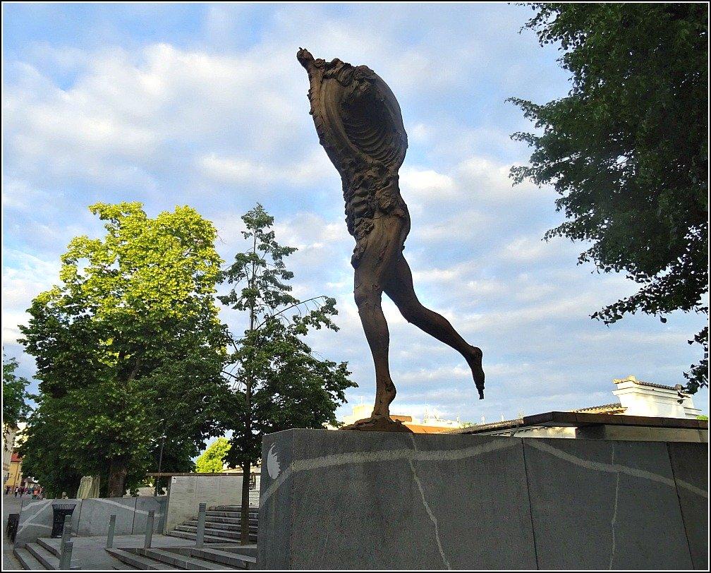 Ljubljana Prometheus Statue at Butchers Bridge