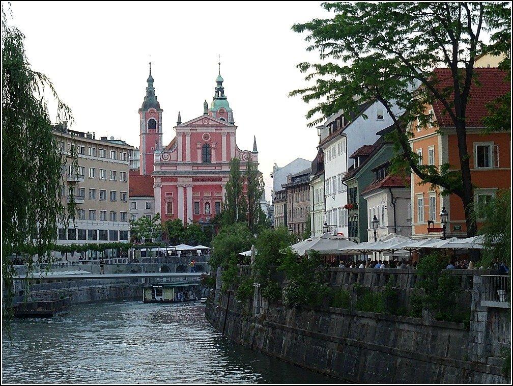 Ljubljana - River Views to Preseren Square
