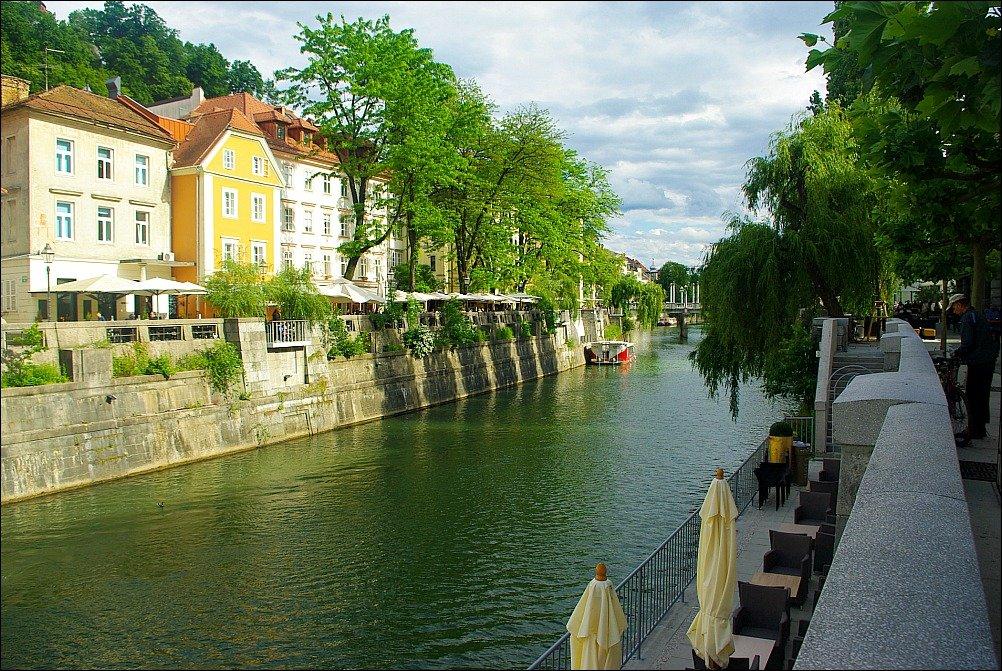 Ljubljana Riverside Cobblers Bridge