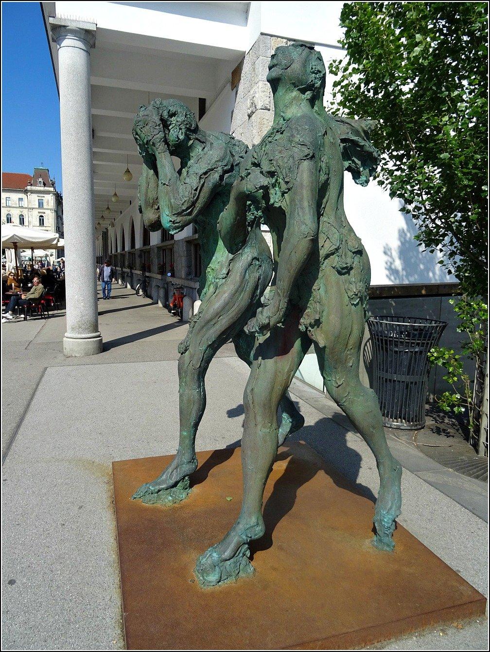 Ljubljana Adam and Eve Statue
