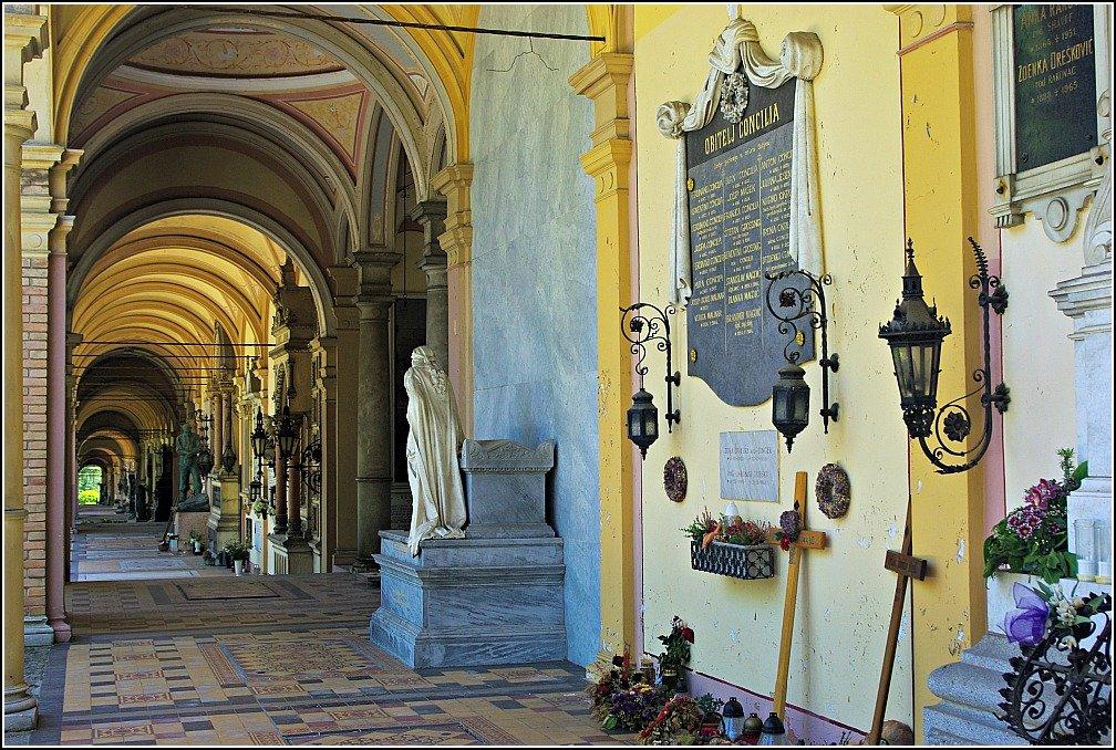 Mirogoj Cemetery Arcade Pastels