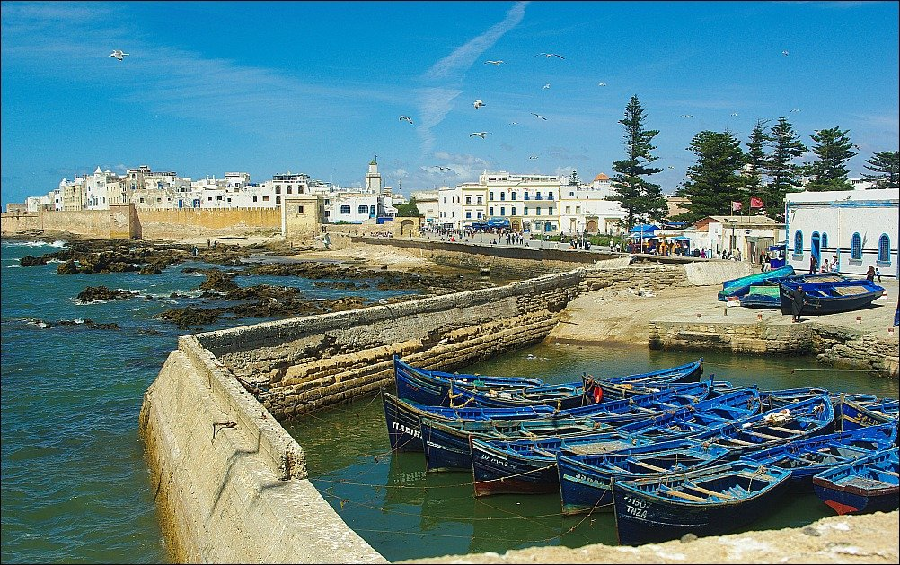 Essaouira is a fishing port a couple of hours outside of Marrakech