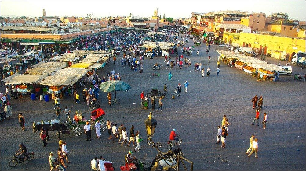 Marrakech Jemaa El Fnaa Square Afternoon