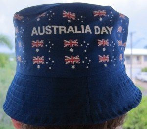 Australia Day Hat given out free with an Australian Sunday Paper