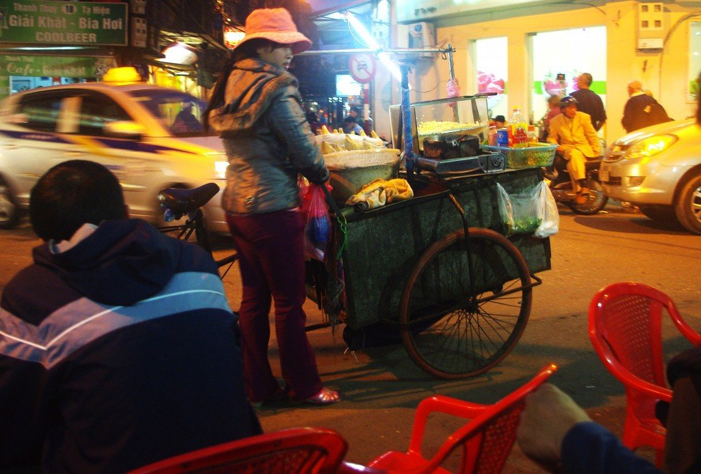 Food Vendor at Bia Hoi Junction, Hanoi