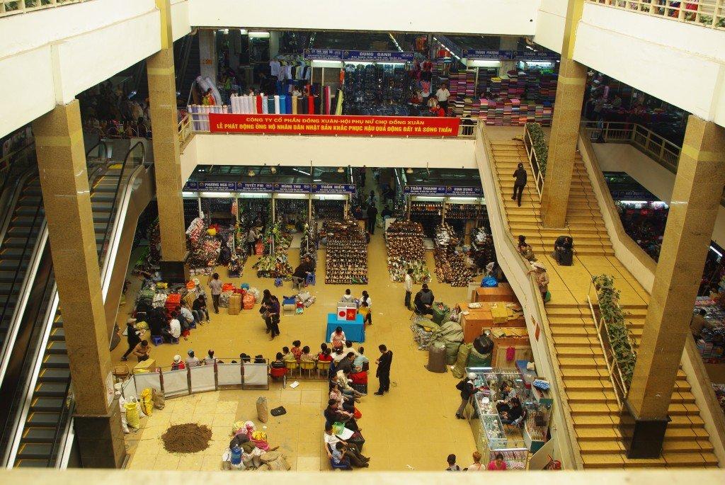 Inside Dong Xuan Market