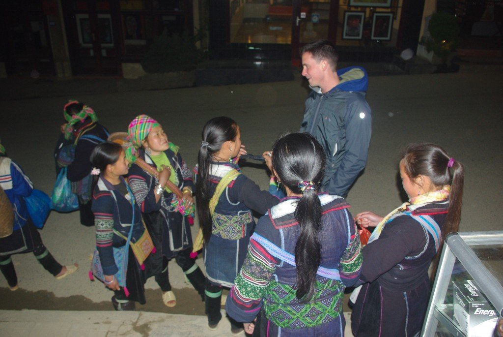 Black Hmong Girls selling and socialising