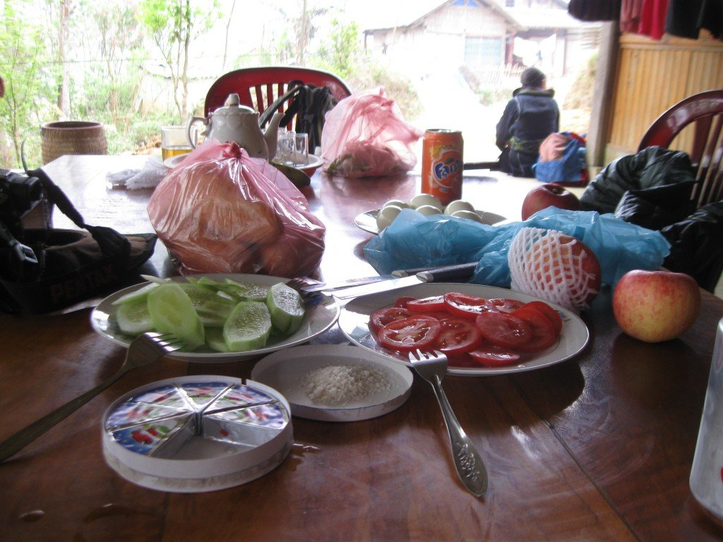 Lunch at homestay at Ta Van on trek from Sapa