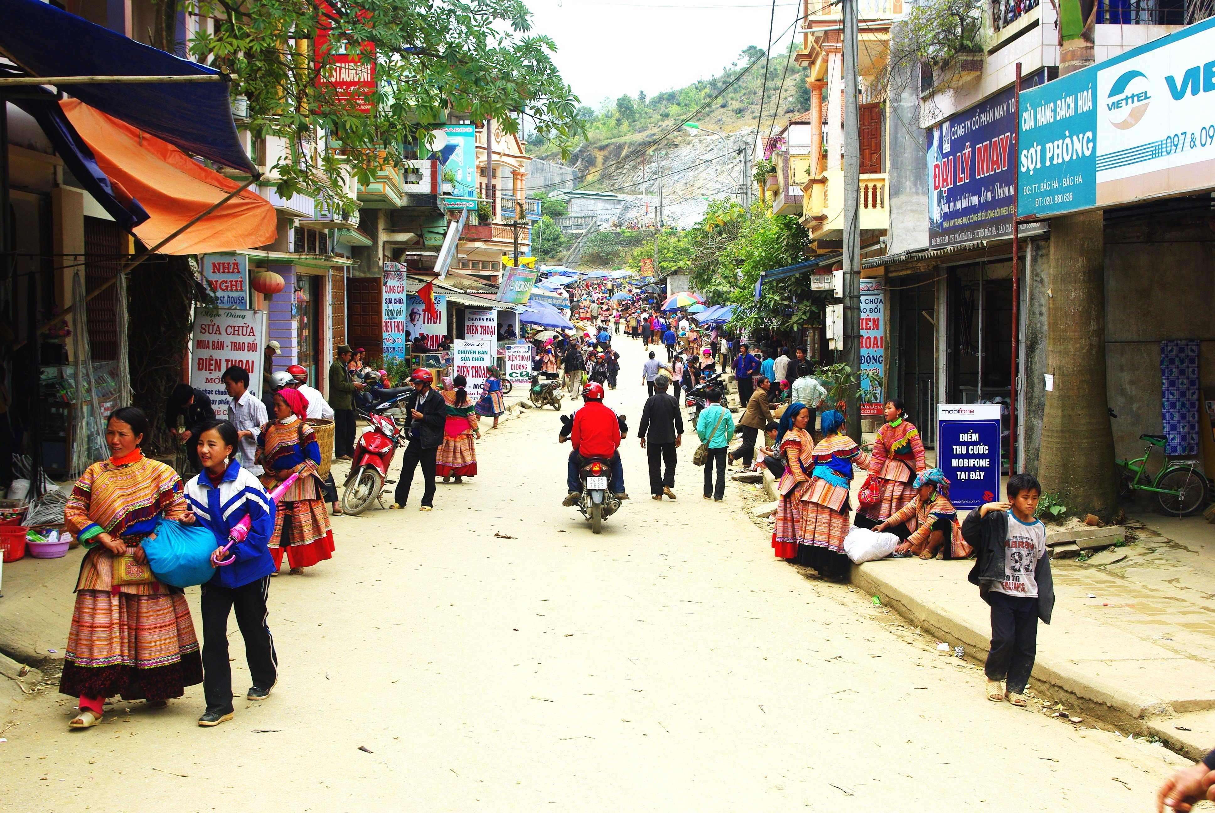 The main street of Bac Ha has a wild west feel to it.