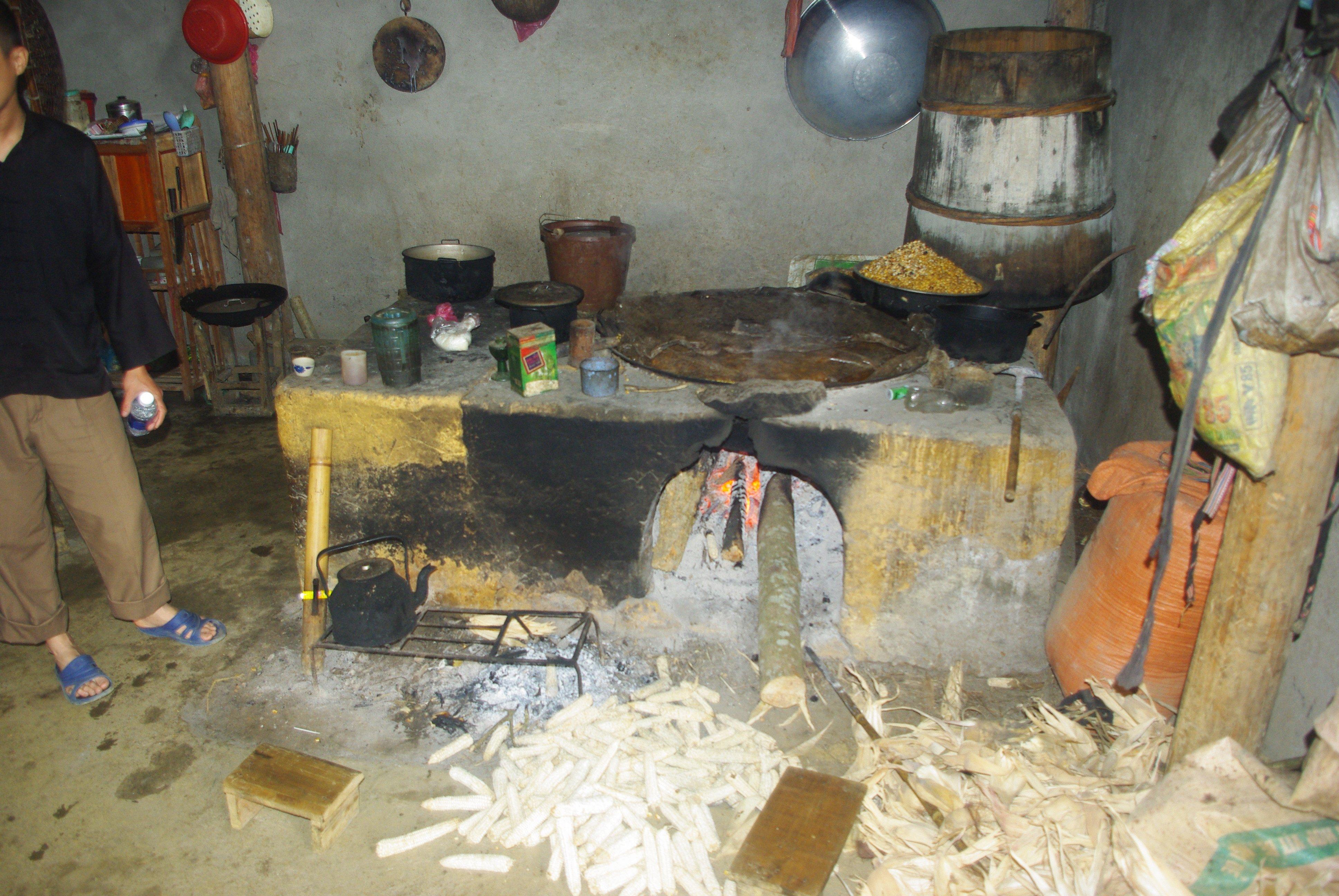 Village kitchen near Bac Ha