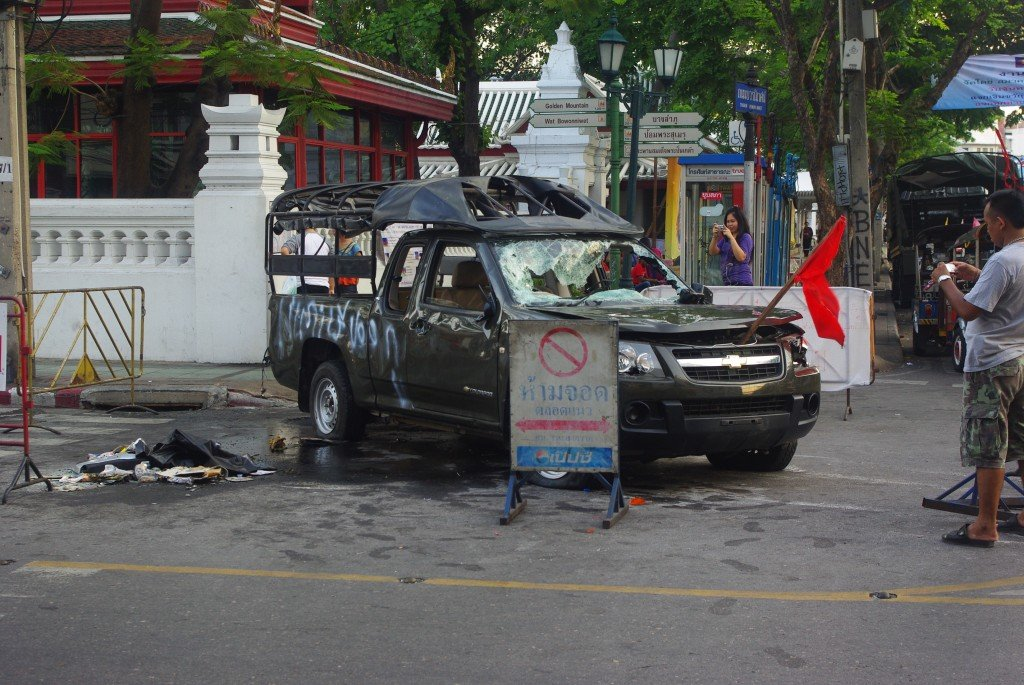 After the Red Shirt Protestors and Government forces clashed in Bangkok 2010