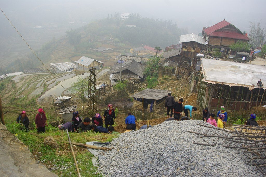 Building site on the outskirts of Sapa, Vietnam