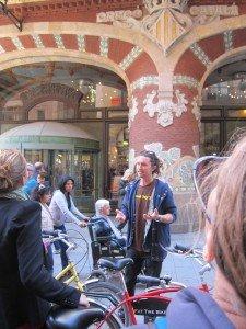 Buddha getting passionate about Palau de la Musica Catalana