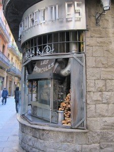 Wood fired rotisserie in Barri Gotic, Barcelona
