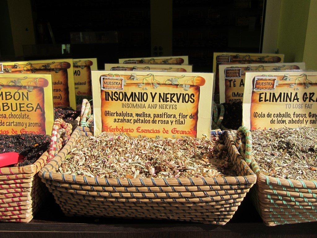 The Herbal Teas in Granada look so attractive.