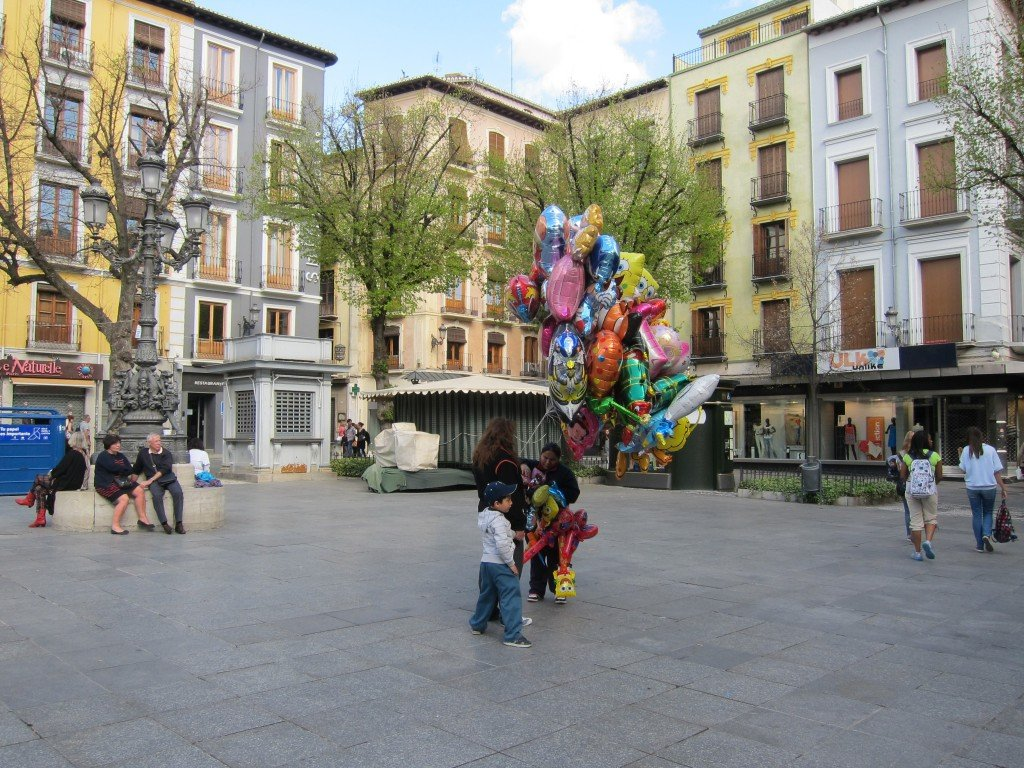 I love the colourful balloons in Spain