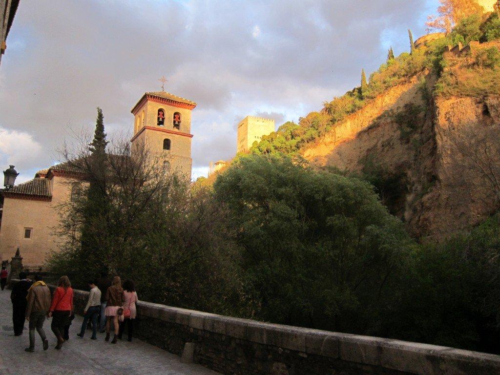 View of Iglesia de San Pedro y San Pable (Church) taken from Carrera del Darro