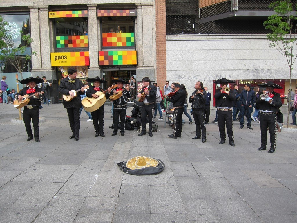 The Mariachi - they were so loud and awesome and their costumes so intricate!