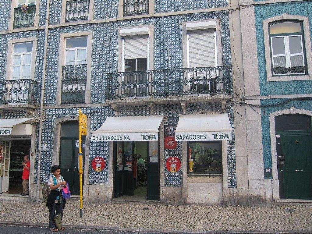 BBQ chicken at Churrasqueira de Sapadores, in Gracia, Lisbon