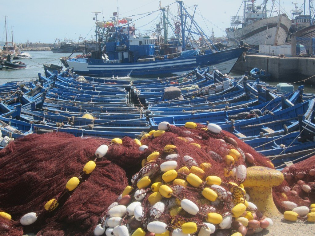 Boats and Nets at Essaouira Port
