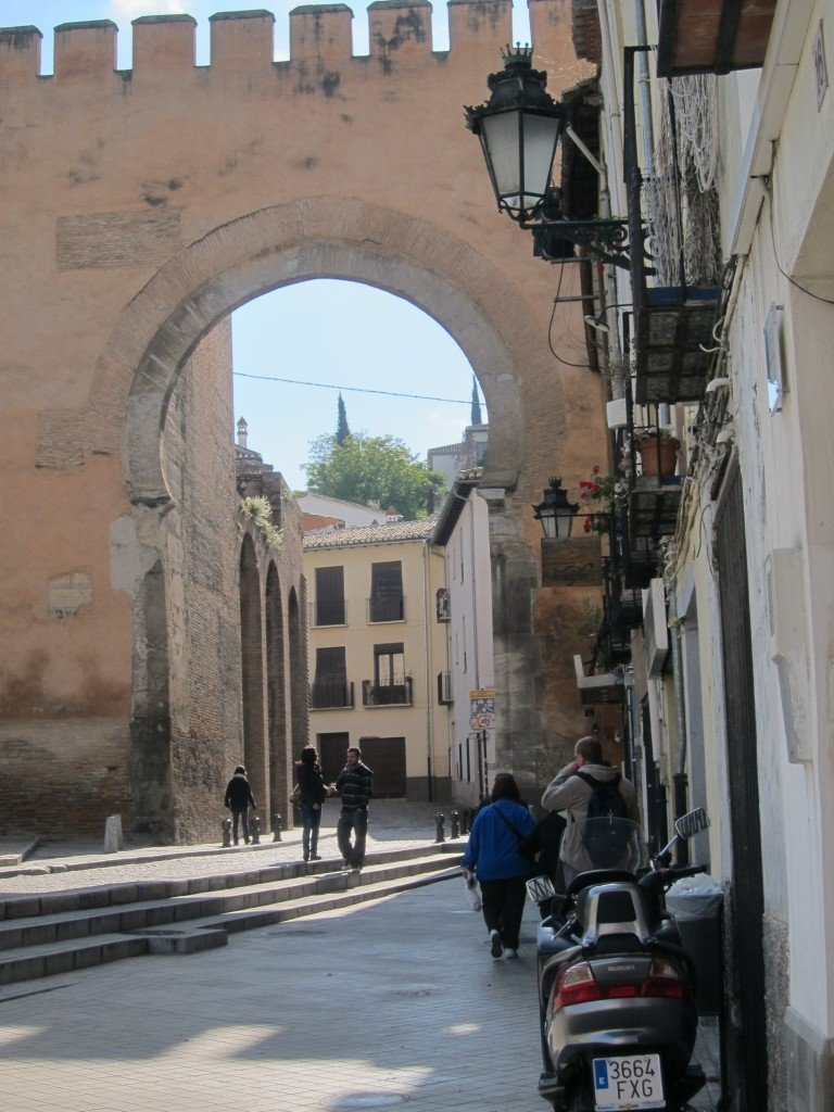 Arch of Elvira, our entrance to the Albaicin Area in Granada, Spain