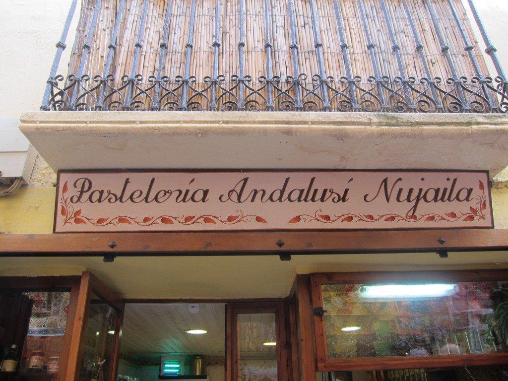 Yummy flat bread in the Albaicin, Granada, Spain