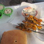 Our first meal in Marrakech at Food Stall No. 1 in Jemaa El Fna Square