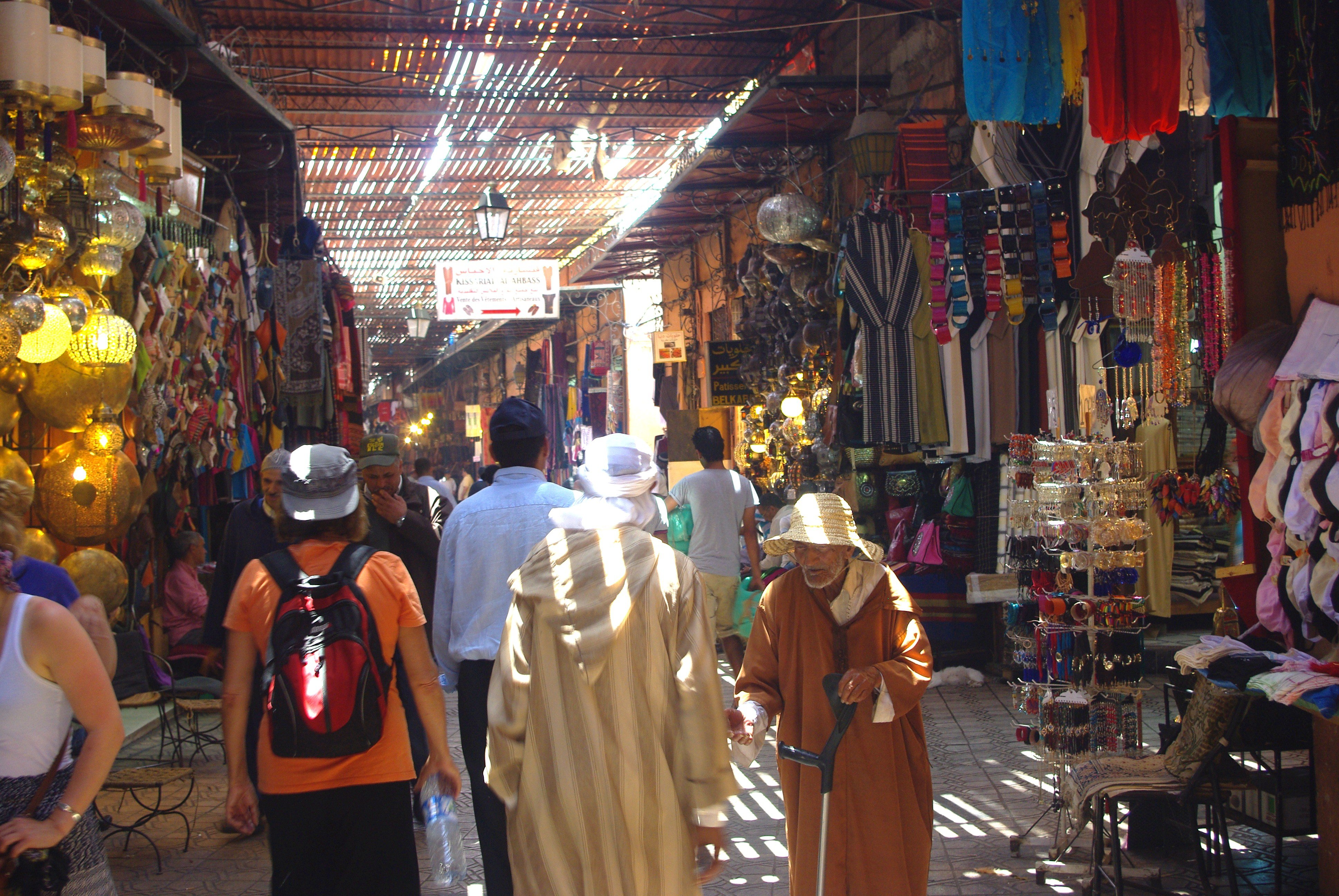 Walking in the Souk at Marrakech