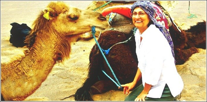 Jan with Camel on Desert Trip from Marrakech