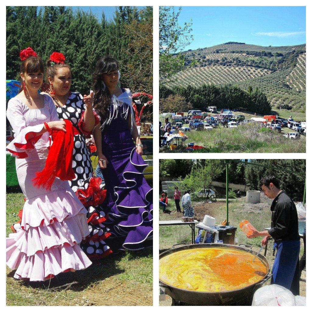 Festival in the field, Paella, Flamenco dresses