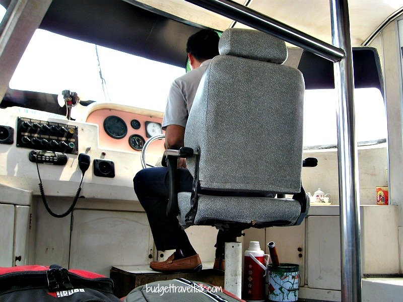"""The Captain of our """"speed boat"""" to Cat Ba Island from Haiphong"""