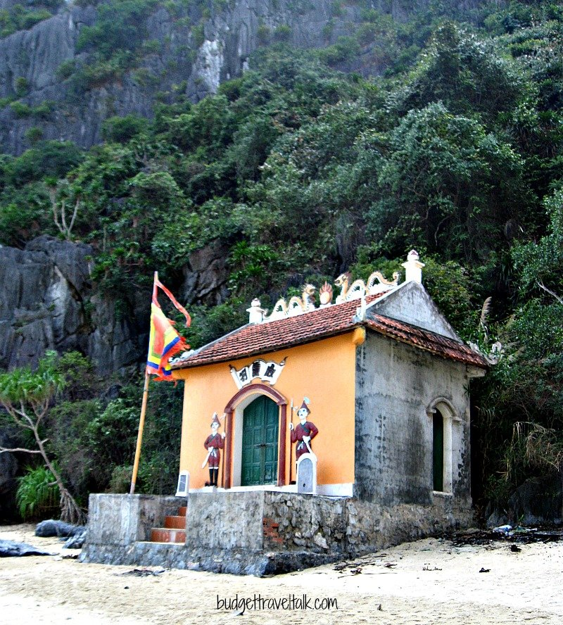 We went exploring in our kayaks to an island with a tiny temple.